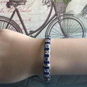 Jewelry - 🌟Blue Enamel Rhinestone Bracelet